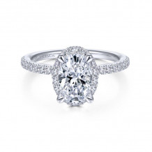 Gabriel & Co. 14k White Gold Contemporary Halo Diamond Engagement Ring - ER14962O6W44JJ