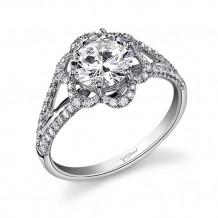 14k White Gold Coast Diamond 0.32ct Diamond Semi-Mount Engagement Ring