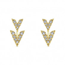 Gabriel & Co. 14k Yellow Gold Kaslique Diamond Stud Earrings - EG13091Y45JJ
