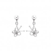 Sterling Silver Diamond Butterfly earrings