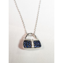 Sapphire and Diamond Purse Necklace