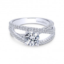 Gabriel & Co. 14k White Gold Contemporary Free Form Diamond Engagement Ring - ER10204W44JJ