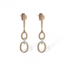 Allison Kaufman 14k Rose Gold Diamond Drop Earrings