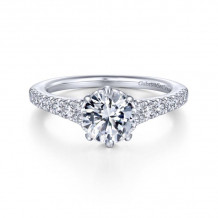 Gabriel & Co. 14k White Gold Contemporary Straight Diamond Engagement Ring - ER14402R4W44JJ