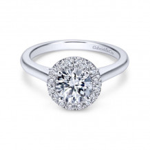 Gabriel & Co. 14k White Gold Contemporary Halo Diamond Engagement Ring - ER7265W44JJ