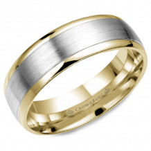 CrownRing 14k  Two Tone Gold Classic 7mm Wedding Band - WB-7153