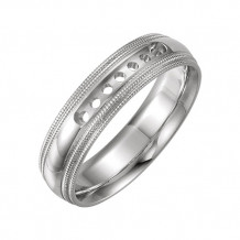 Stuller 14k White Gold  Wedding Band