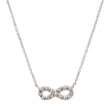 Lau International 14k White Gold Diamond Infinity Necklace