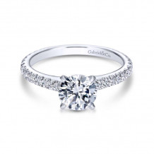 Gabriel & Co. 14k White Gold Contemporary Straight Diamond Engagement Ring - ER6700W44JJ