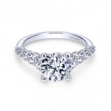 Gabriel & Co. 14k White Gold Contemporary Straight Diamond Engagement Ring - ER11757R6W44JJ
