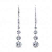 Gabriel & Co. 14k White Gold Lusso Diamond Drop Earrings - EG12961W45JJ