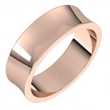 10K Rose 6 mm Concave Light Band Size 7