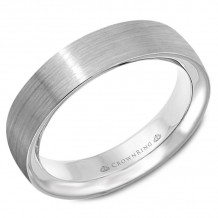 CrownRing 14k White Gold  Classic 5.5mm Wedding Band - WB-9500