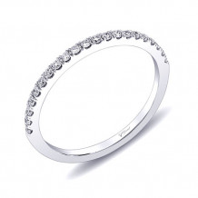 Coast 14k White Gold 0.16ct Diamond Wedding Band