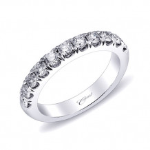 Coast 14k White Gold 0.68ct Diamond Wedding Band