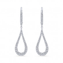 Gabriel & Co. 14k White Gold Lusso Diamond Drop Earrings - EG13195W45JJ