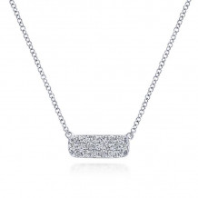 Gabriel & Co. 14k White Gold Lusso Diamond Necklace - NK4943W45JJ