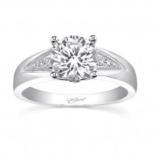 14k White Gold Coast Diamond 0.08ct Diamond Semi-Mount Engagement Ring