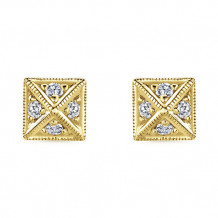14k Yellow Gold Gabriel & Co. Diamond Stud Earrings