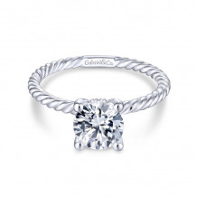 Gabriel & Co. 14k White Gold Hampton Solitaire Diamond Engagement Ring - ER13913R4W44JJ