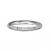 ArtCarved Palladium 2mm Low Dome Comfort Fit Wedding Band