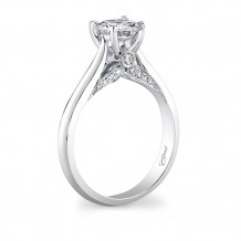 14k White Gold Coast Diamond 0.14ct Diamond Semi-Mount Engagement Ring With Milgrain Details