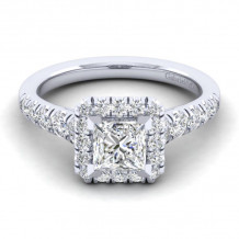 Gabriel & Co. 14k White Gold Contemporary Halo Diamond Engagement Ring - ER10909S4W44JJ