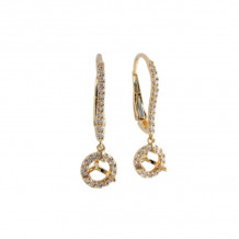 Allison Kaufman 14k Yellow Gold Diamond Drop Earrings