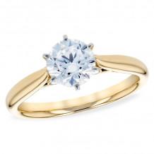 Allison Kaufman 14k Yellow Gold Solitaire Semi-Mount Engagement Ring