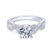 Gabriel & Co. 14k White Gold Contemporary Twisted Diamond Engagement Ring - ER7805W44JJ