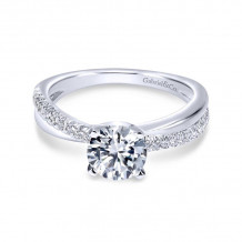 Gabriel & Co. 14k White Gold Contemporary Twisted Diamond Engagement Ring - ER10439W44JJ