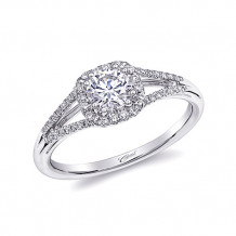 14k White Gold Coast Diamond 0.17ct Diamond Semi-Mount Fishtail Engagement Ring
