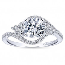 Gabriel & Co 14k White Gold Diamond Engagement Ring