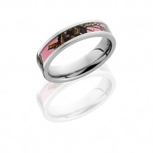Lashbrook Cobalt Chrome with Kings Mossy Oak Pink Break Up Inlay Wedding Band