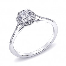 14k White Gold Coast Diamond 0.15ct Diamond Semi-Mount Fishtail Engagement Ring