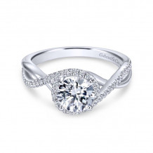 Gabriel & Co. 14k White Gold Contemporary Twisted Diamond Engagement Ring - ER7804W44JJ