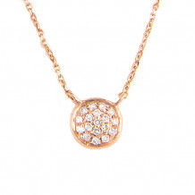 Lau International Rose Gold Diamond Infinity Necklace