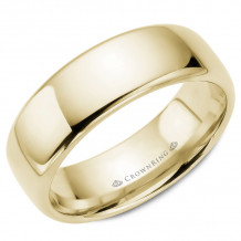 CrownRing 14k Yellow Gold Traditional 7.5mm Wedding band - TDS14Y75