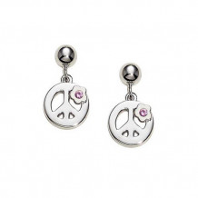 Sterling Silver Sapphire Peace earrings