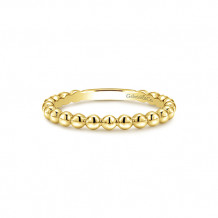 Gabriel & Co. 14k Yellow Gold Beaded Fashion Stackable Ring