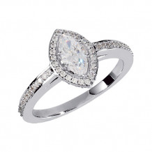 Stuller 14k White Gold Marquise Halo Engagement Ring
