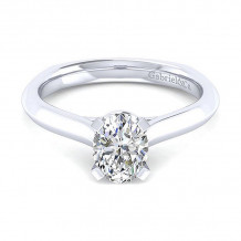 Gabriel & Co 14K White Gold Rina Solitaire Diamond Engagement Ring