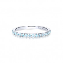 Gabriel & Co. 14k White Gold Sky Blue Topaz Stackable Ring