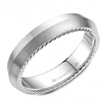 CrownRing 14k White Gold Rope 5mm Wedding band - WB-056R5W