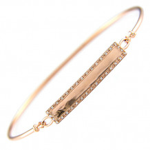 Lau International 14k Rose Gold Diamond Bangle Bracelet