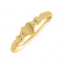 14K Yellow Gold Heart Baby's Ring