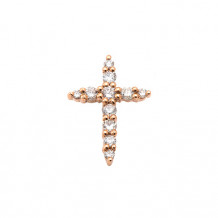 Lau International 14k Rose Gold Diamond Cross Pendant