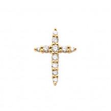 Lau International 14k Yellow Gold Diamond Cross Pendant