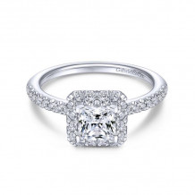 Gabriel & Co. 14k White Gold Contemporary Halo Diamond Engagement Ring - ER13907S3W44JJ