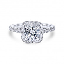 Gabriel & Co. 14k White Gold Contemporary Halo Diamond Engagement Ring - ER14412R4W44JJ